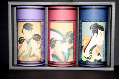 "Acheter Coffret de Trois Boîtes Japon ""Utamaro"""